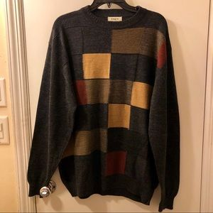 Vintage Tagio Colorblock Wool Sweater